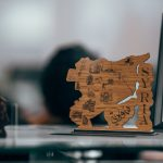 Image depicting the country of Syria carved out of a wooden block